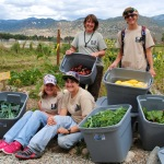 Southwest Conservation Corps' Agricorps crew with a bountiful harvest for the Salida School District.